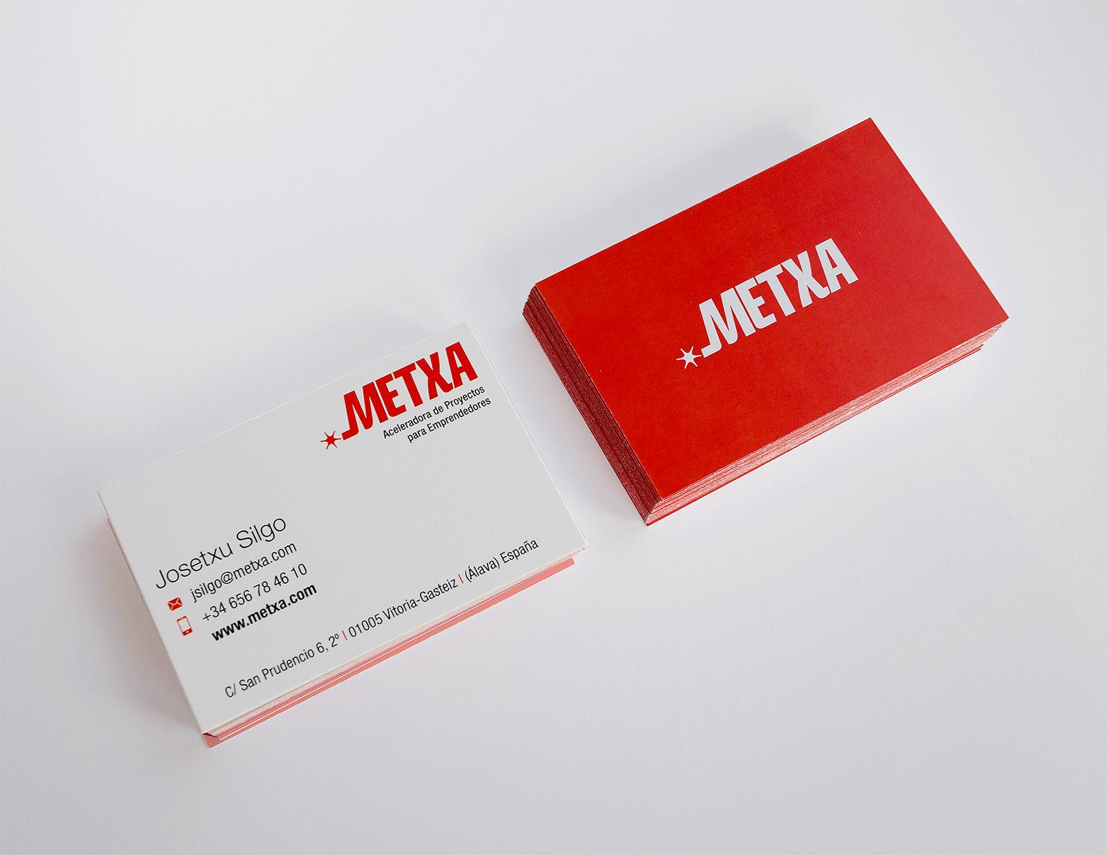 Tarjeta de visita Metxa