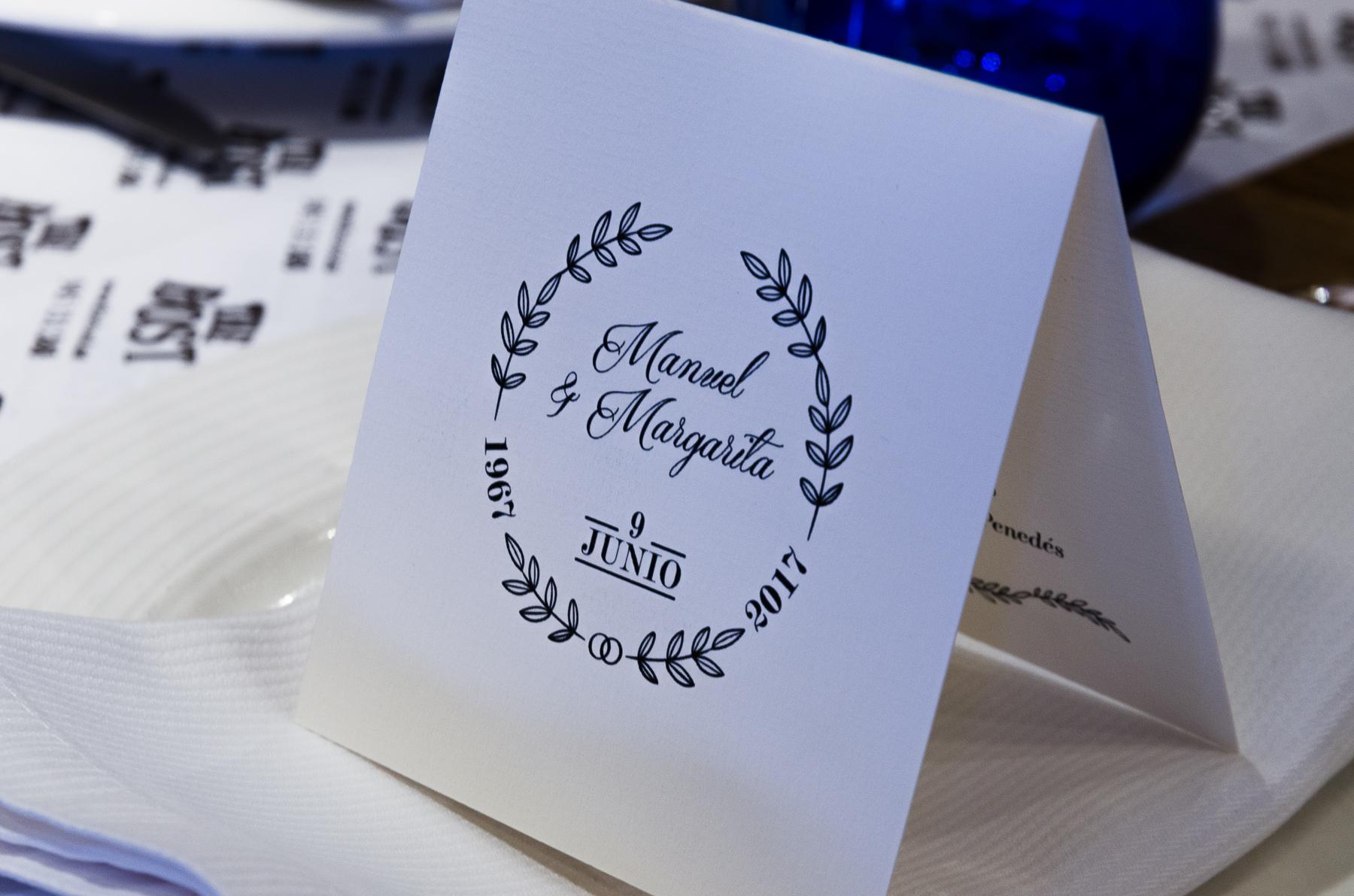 Fotografía detalle invitación 50 aniversario de bodas